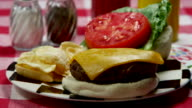CHEESEBURGER & HOT DOG ON A PLATE - 2 shots video