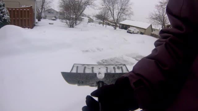 Shoveling Snow POV video