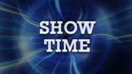 Show Time Loop Text video