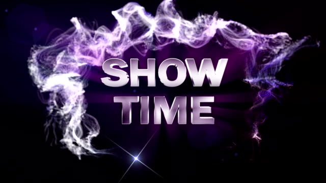 Show Time Text in Particles, Blue video