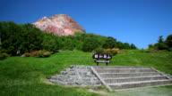 Showa-Shinzan dome in Hokkaido, Japan video