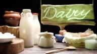Showcase of milk store video