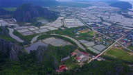 Shrimp farms from above video