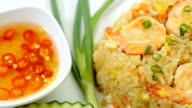 Shrimp fried rice with chilli sauce video
