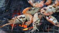 Shrimp grilled video