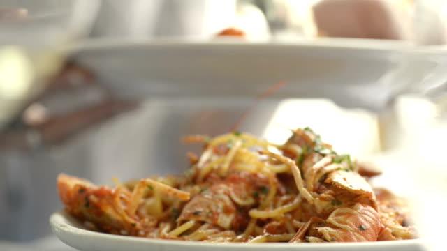 Shrimps dish CU video