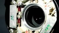 shutter inside lens openning in slow motion video