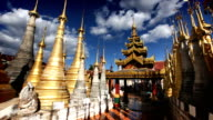 Shwe Inn Tain Temple, Inle Lake, Myanmar (Burma) video