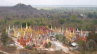 Shwe Inn Thein Pagoda, Indein Village, Inle Lake, Myanmar (Burma) video
