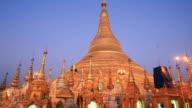 Shwedagon Pagoda Temple beautiful sunset in Yangon, Myanma video