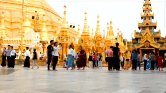 Shwedagon Pagoda timelapse video