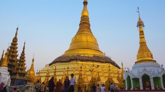 Shwedagon pagoda. Yangon, Myanmar video
