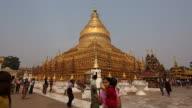 Shwezigon Pagoda Time Lapse, Bagan, Myanmar (Burma) video