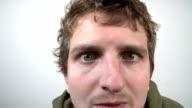 Sick Mans Face Close Up video