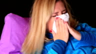 Sick woman caught a cold video