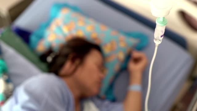 Sick women in hospital room video
