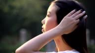 side face of Asian girl video