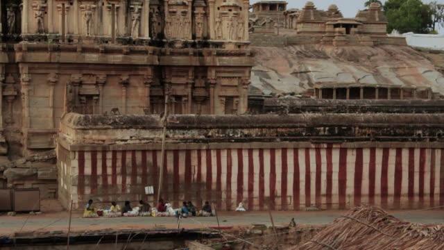 Side of Hindu temple. video
