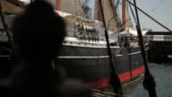 side of the tall sailing ship vessel video