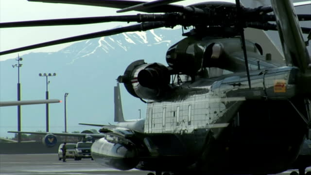 side shot of presidential marine helicopter video