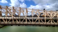 Side View of the Ed Koch Queensboro Bridge as Seen from the Roosevelt Tramway video