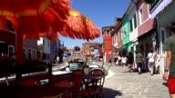 HD SUPER SLOW-MO: Sidewalk Cafe In Venice video