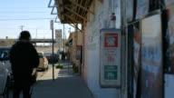 Sidewalk in a Border Town video