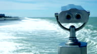 Sighting telescope on the seaside video