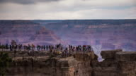 Sightseers at the Grand Canyon - Time Lapse video