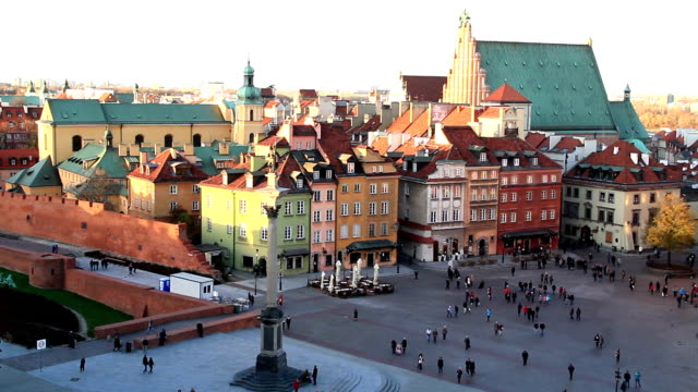 Sigismund's Column, Old Town, Warsaw Poland video