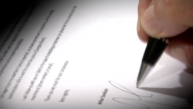 Sign a document video
