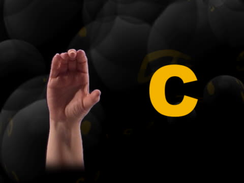 Sign Language A-J video