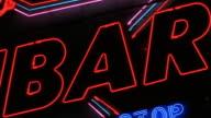 BAR sign. video