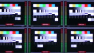 TV signal test pattern video