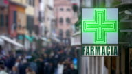 Signboard of Pharmacy in Italy video