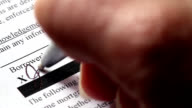 Signing Loan Application Contract video