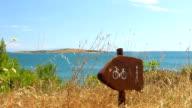 HD: Signpost On Mediterranean Coast video