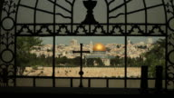 Signs of Christianity and Islam with Jerusalem Skyline video