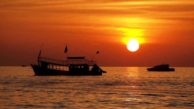 Sihanoukville sunset, Cambodia video