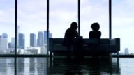 Silhouette Business Conversation video