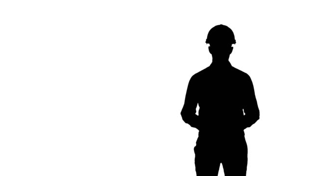 Silhouette Construction worker enlisting factors for success video