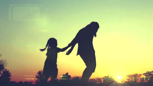 Silhouette Happy Family. video