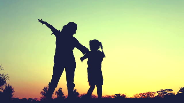 Silhouette Happy Family, video