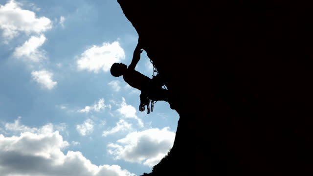 Silhouette of a climber video