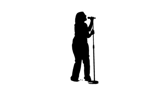 Silhouette of a singer video