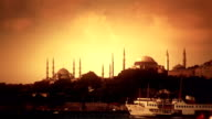 Silhouette of Istanbul video