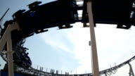 Silhouette of roller coaster video