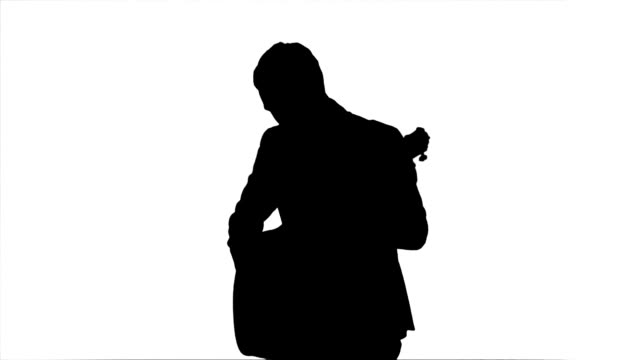 Silhouette Young man playing guitar video