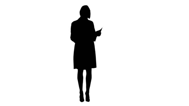 Silhouette Young nurse reading patient medical history forms video