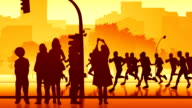 Silhouettes of street runners video